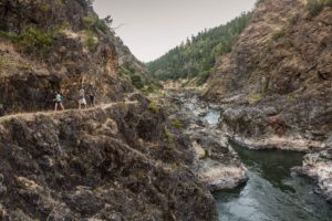 Hiking high above the Rogue River