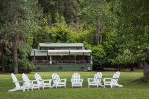 Morrisons Lodge Adirondack Chairs and Lawn