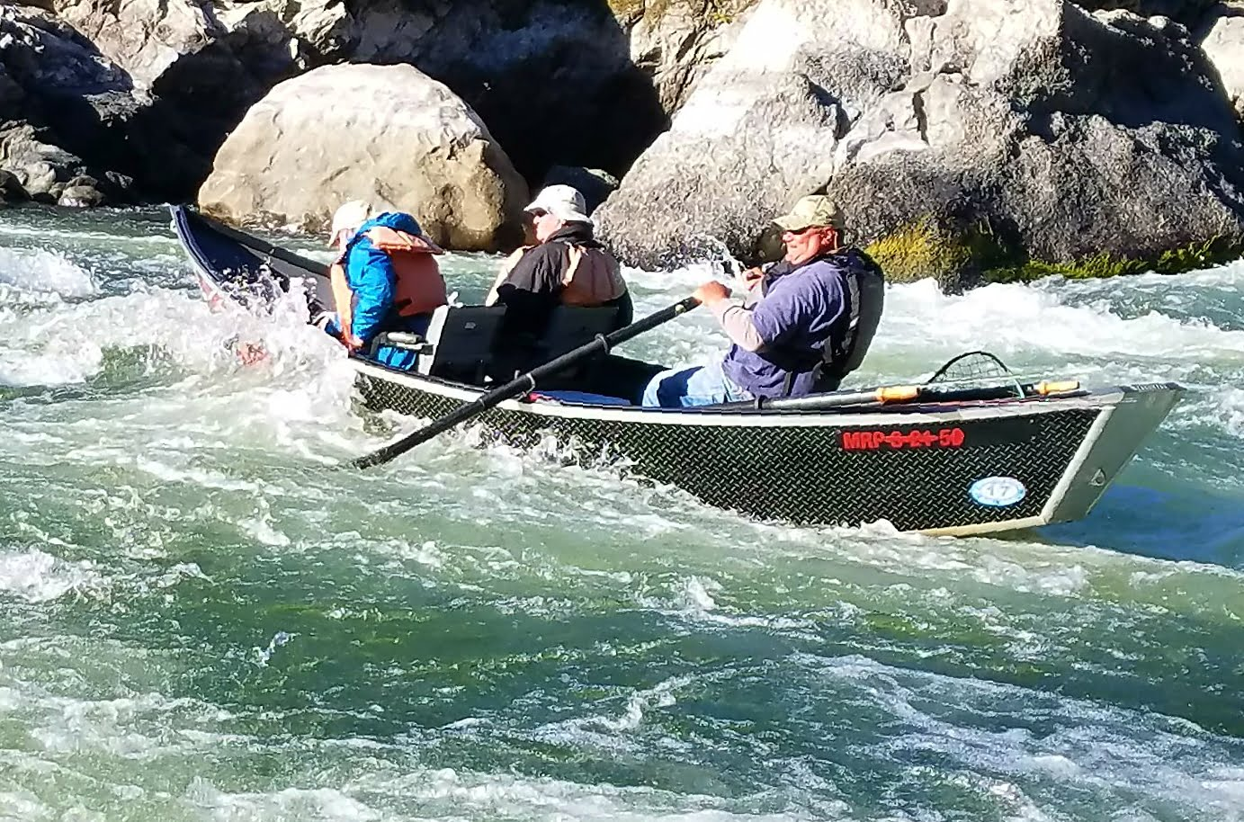 Fishing down the Rogue River Canyon